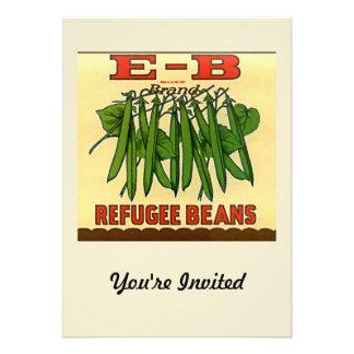 Vintage EB Brand Refugee Green Beans Invites