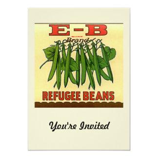 Vintage EB Brand Refugee Green Beans 5x7 Paper Invitation Card