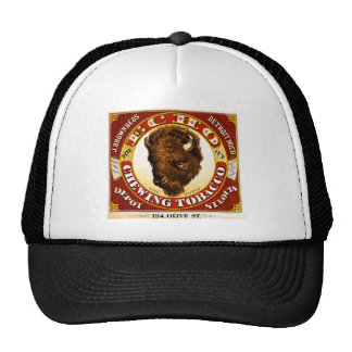 Vintage Echo Chewing Tobacco Label 1873 Mesh Hats