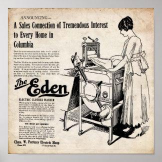 Vintage Eden Electric Clothes Washer Print