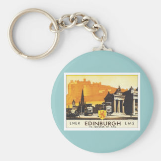 Vintage Edinburgh LNER Basic Round Button Key Ring