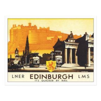 Vintage Edinburgh LNER Postcard