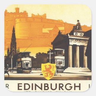 Vintage Edinburgh LNER Square Sticker