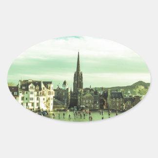 Vintage Edinburgh Oval Sticker