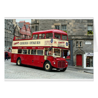 Vintage Edinburgh Tour Bus, Scotland, UK Card