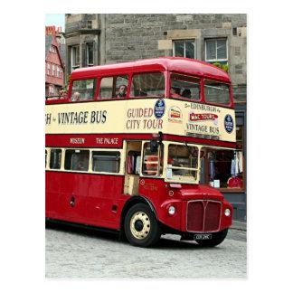 Vintage Edinburgh Tour Bus, Scotland, UK Postcard