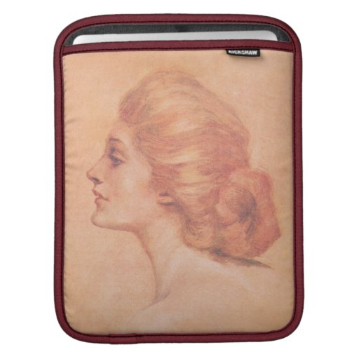 Vintage Edwardian Woman Delineator Cover Gibbs iPad Sleeves