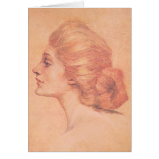 Vintage Edwardian Woman Delineator Cover Gibbs Note Card