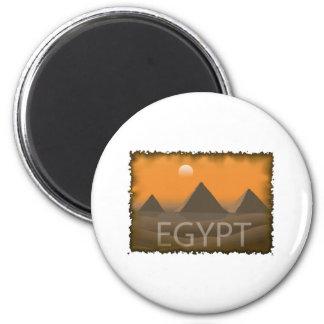 Vintage Egypt 6 Cm Round Magnet