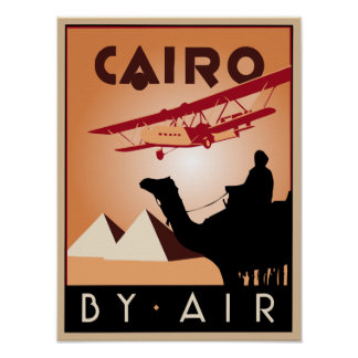 Vintage Egypt travel art deco Poster