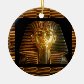 VINTAGE Egyptian Idols Art : PYRAMIDS of ANCIENT Christmas Ornament