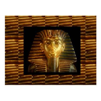 VINTAGE Egyptian Idols Art : PYRAMIDS of ANCIENT Postcard