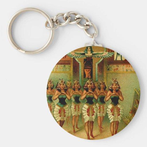 Vintage Egyptian Painting Keychains