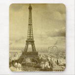 Vintage Eifel Tower Paris France  1889 Mouse Pad