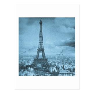 Vintage Eifel Tower Paris France  1889 Postcard