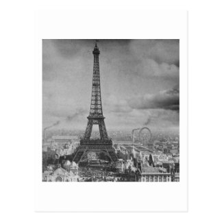 Vintage Eifel Tower Paris France  1889 Postcard