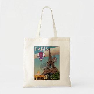 Vintage Eiffel Tower - 18x24 Tote Bag