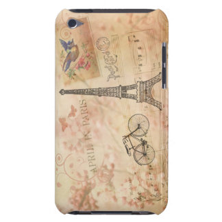 Vintage Eiffel Tower Art Barely There iPod Cases