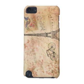 Vintage Eiffel Tower Art iPod Touch 5G Cases