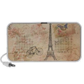 Vintage Eiffel Tower Art Mini Speaker