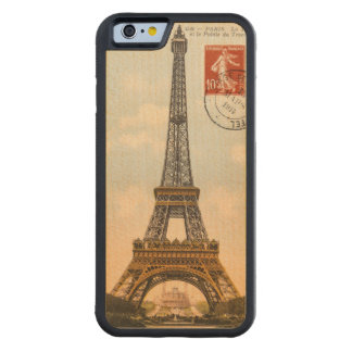 Vintage Eiffel Tower Carved Wooden iPhone 6 Case