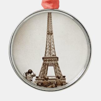Vintage Eiffel Tower Christmas Ornament