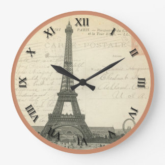 Vintage Eiffel Tower Clock