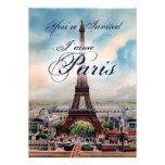 Vintage Eiffel Tower Invitation
