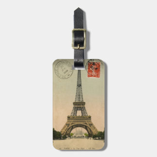 Vintage Eiffel Tower Luggage Tag