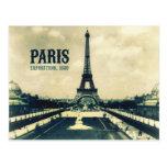 Vintage Eiffel Tower, Paris, 1889 Postcard