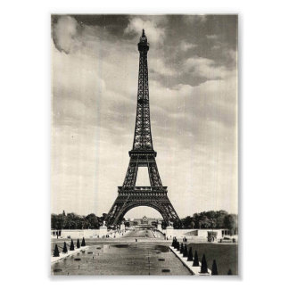 Vintage Eiffel Tower Paris Art Photo