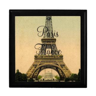 Vintage Eiffel Tower Paris France Poscard -giftbox Gift Box
