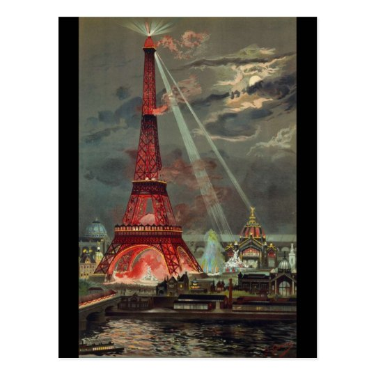 Vintage Eiffel Tower Paris France Postcard