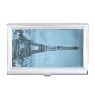 Vintage Eiffel Tower Paris Worlds Fair Stereoview Business Card Holder
