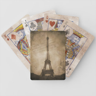 vintage eiffel tower playing cards