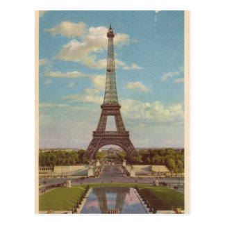 Vintage Eiffel Tower Post Card