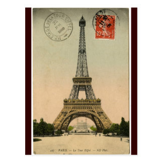 Vintage Eiffel Tower Postcard