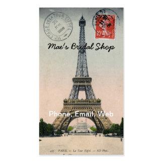 Vintage Eiffel Tower Postcard Business Cards