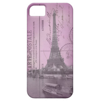 Vintage Eiffel Tower Postcard in Pink iPhone 5 iPhone 5 Case