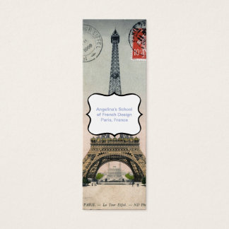 Vintage Eiffel Tower Postcard Mini Business Card