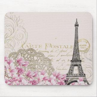 Vintage Eiffel Tower Print Mouse Mat