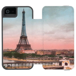 VIntage Eiffel Tower Scene Incipio Watson™ iPhone 5 Wallet Case