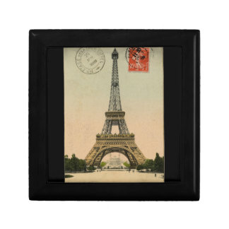 Vintage Eiffel Tower Small Square Gift Box
