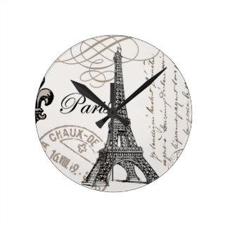 Vintage Eiffel Tower...wall clock