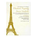 Vintage Eiffel Tower Wedding Invitations Custom Announcement