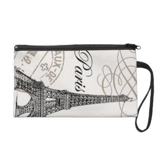 Vintage Eiffel Tower...wristlet Wristlet Purse