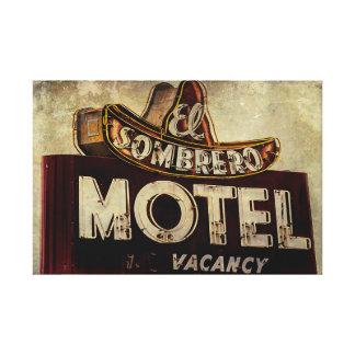 Vintage El Sombrero Motel Sign Canvas Prints