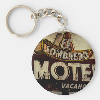 Vintage El Sombrero Motel Sign Key Chains