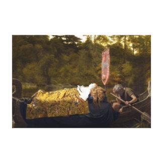 Vintage Elaine The Lady of Shalott King Arthur Stretched Canvas Print