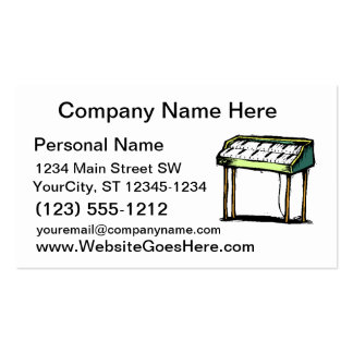 Vintage Electric Organ Piano Design Graphic Pack Of Standard Business Cards